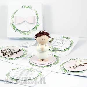 handmade dla dziecka exploding box chrzest #2 dziewczynka