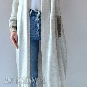 bomberka długi sweter z kieszeniami, bomber, bomberka, sweter