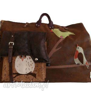 przepastna torba podróżna leśna, podróżna, xxl, ogromna, skóra
