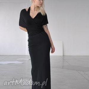 sukienki smoła - długa suknia, wizytowa, szale, kobieca, wyjściowa, jedwab