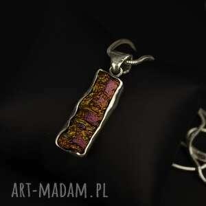 ręczne wykonanie wisiorki oryginalny wisiorek na grubym łańcuszku srebro