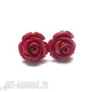 pąsowe róże vol 2, srebro, koral, kwiaty