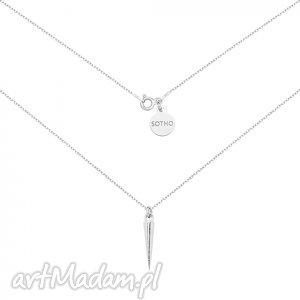 srebrny naszyjnik z kłem - zawieszka, kieł, srebro, modny