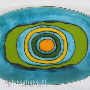 energetyczny półmisek ceramiczny, półmisek, z-ceramiki, kolorowy, talerz, ceramiczny