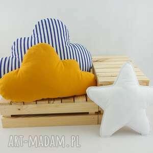 handmade pokoik dziecka zestaw 3 poduch musztardowy z granatem