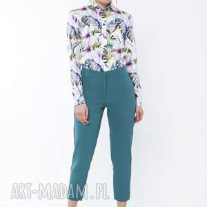 Spodnie z ozdobnymi lampasami, sd116 morski lanti urban fashion