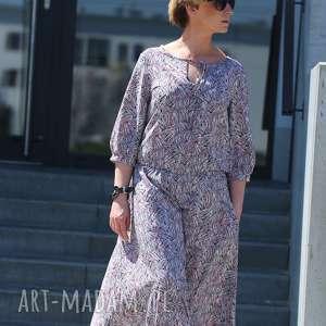 Chryzantemowy ogród-sukienka sukienki ququ design boho sukienka