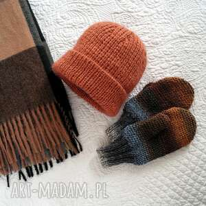 handmade czapki czapka wełniana z moherem i jedwabiem
