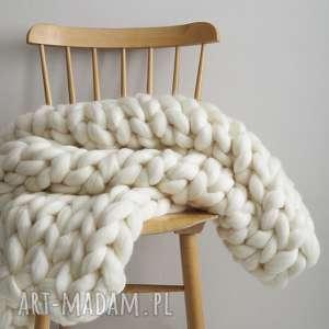 koce i narzuty wełniany koc / pled chunky blanket, koc, pled, wełna, blanket