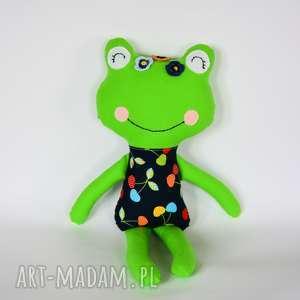 Panna Żabka - Julka 46 cm, żabka, maskotka, dziewczynka, chrzciny, bezpieczna
