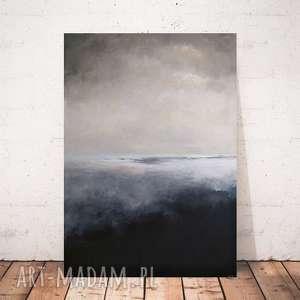 abstrakcja w szarościach -obraz akrylowy formatu 50/70 cm, abstrakcja, akryl