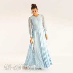 sukienka 19/ss/2021, koronkowa, długa, weselna, klasyczna, elegancka, stylowa