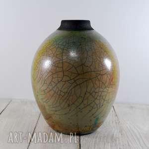 Prezent Wazon Raku, technika-raku, krakle, ceramika-artystyczna, prezent, wazon-raku