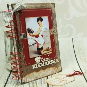 przepiśnik - pin up girl, przepiśnik, książka, kucharska, notes, kulinarny, retro