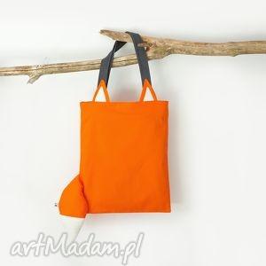 bawełniana torba lis, uszy, ogon, lisek, wyzywający, sygnalizujący na zakupy