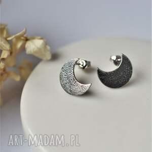 kolczyki księżyce, z księżycem, księżyc, księżyc w pełni, moon