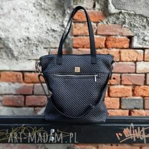 torebka catoo premium #01, czarna torebka, premium, listonoszka, metalowy zamek