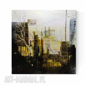 art krystyna siwek obraz na płótnie abstrakcja miasto loft industrial 100 x