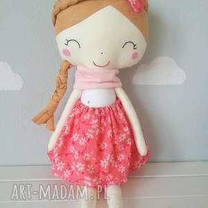 TuUlik: lalka wiosna, dziewczynka, szycie, bawełna, przytulanka, filc