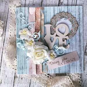 Prezent Kartka okolicznościowa LOve, ślub, rustykalna, kartka, życzenia, prezent