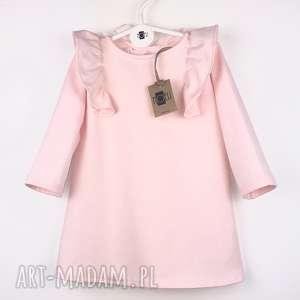 sukieneczka pinky, sukienka, falbanki dla dziecka