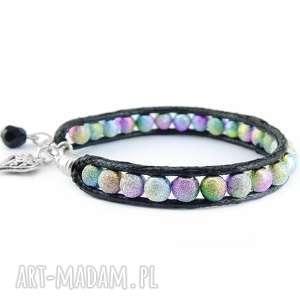 0824/mela bransoletka wrap bracelet pojedyncza, bransoletka, wrap, pleciona