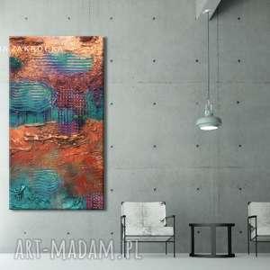 Bardzo duży obraz nowoczesny z rzeźbą, obrazy-do-salonu, obrazy-nowoczesne