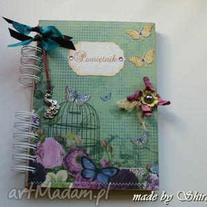 shiraja pamiętnik - paw w ogrodzie, pamiętnik, sekretnik, notes, notatnik, zeszyt