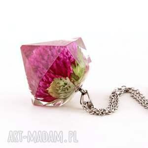 naszyjniki naszyjnik z kwiatem w kształcie diamentu, kwiaty żywicy, gomferna