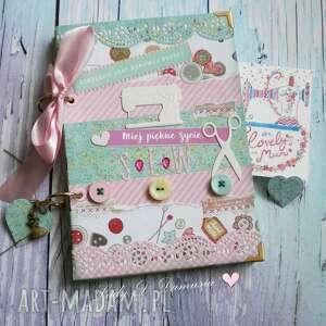 Prezent Stylowy notatnik dla miłośniczek szycia i życia:), notes, kobiecy, dziennik