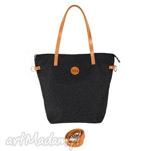 torba worek plecionka simple czarna carmel, torba, torebka, plecionka, manamana na