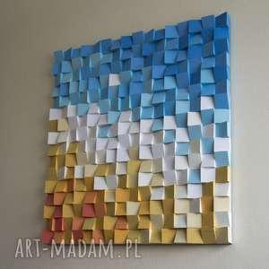 Mozaika drewniana obraz drewniany 3d na zamówienie dekoracje