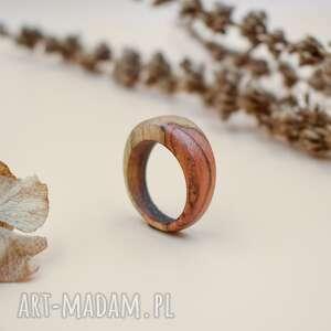 pierścień z drewna tekowego, pierścionek, pierścionek drewna, drewniany