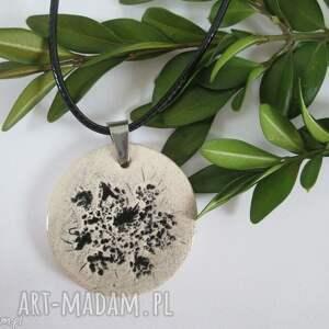 roślinny naszyjnik ceramiczny - z ceramiki, z roślinką, ekologiczny, naturalny