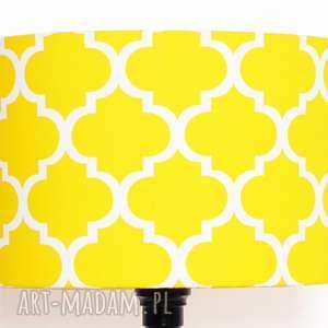 lampy abażur fresh yellow 40x40x25cm od majunto, abażur, koniczyna-marokańska