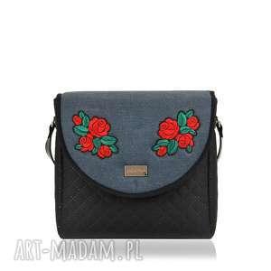 oryginalny prezent, farbotka torebka puro 1039 roses 2, klapkomania, puro, haft