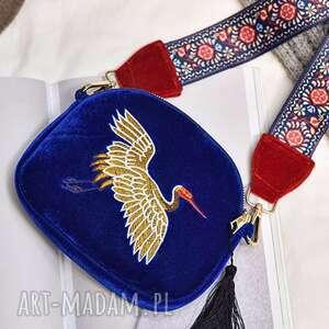 mini haftowana torebka z frędzlami, etno, haftowana, prezent, orient, ludowa, mama