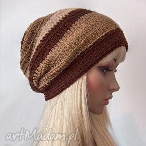 ręcznie zrobione czapki w stylu boho - czapka