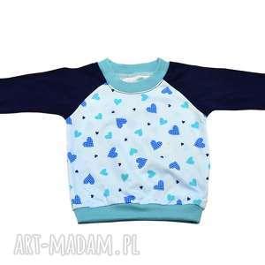bambi serca granatowo-niebieska bluzka dla dziewczynki, bawełniana, rozmiary 68-122