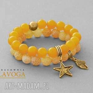 ręcznie robione bransoletki amber jade & agate set