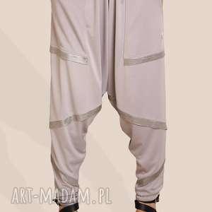 spodnie alladynki ze wstawkami, wstawki, luźne, alladynki, pumpy, oversize