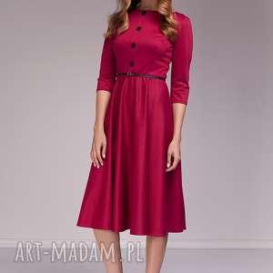 Sukienka Candice, moda, midi, amarantowa