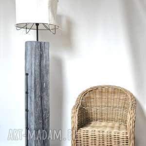 oldtree lampa stojąca - wysoka, salonowa z abażurem, salon, loft, duża