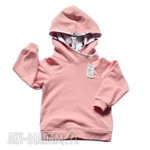 Różowa bluza dla dziewczynki, KOTY, bawełniana z kapturem, 100% bawełna