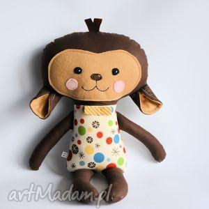 małpka tomuś 45 cm, małpka, chłopczyk, maskotka, dziecko, przytulanka, gwiazdka