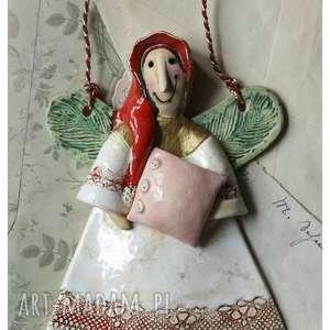 anioł śpioch, ceramika, anioł, poduszka
