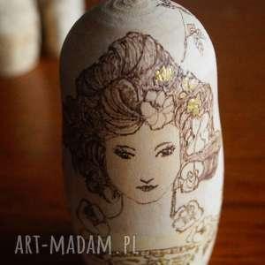 handmade lalki matrioszka jak od muchy - ręcznie wypalana babuszka