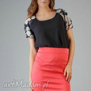 bluzka roma 2, kwiaty, modna, wygodna, wstawka, bufka, elegancka