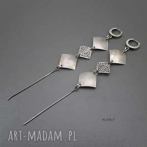 kolczyki długie - srebro vi, srebro, oksydowane, biżuteria