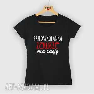 koszulka z nadrukiem dla przedszkolanki, prezent na dzień edukacji